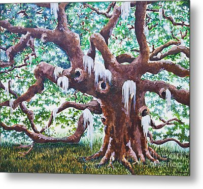 Metal Print featuring the painting Angel Oak by Melissa Sherbon