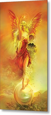 Angel Of Abundance - Fortuna Metal Print by Anna Ewa Miarczynska