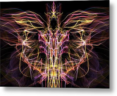 Metal Print featuring the digital art Angel Of Death by Lilia D