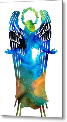 Angel Of Light - Spiritual Art Painting Metal Print