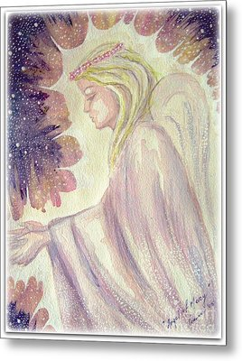Metal Print featuring the painting Angel Of Mercy by Leanne Seymour