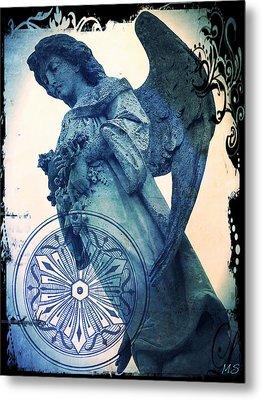 Angel Of Peace - Art Nouveau Metal Print by Absinthe Art By Michelle LeAnn Scott