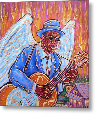 Angel Of The Blues Metal Print by Robert Ponzio