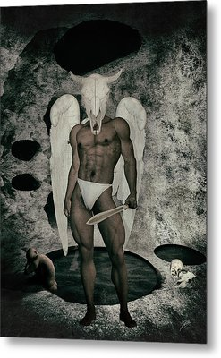 Danse Macabre Angel Metal Print by Quim Abella