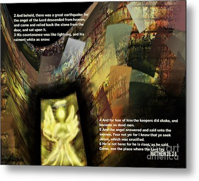 Angel Of The Lord Metal Print by Wayne Cantrell