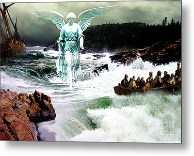 Angel Of The Storm  Metal Print by Lianne Schneider