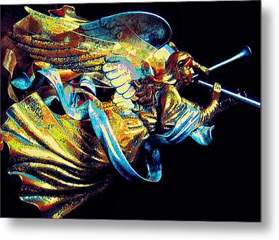 Angel Herald Metal Print by ARTography by Pamela Smale Williams