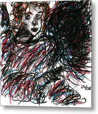 Angel Sketch Metal Print by Rachel Scott