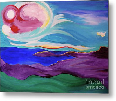 Metal Print featuring the painting Angel Sky by First Star Art