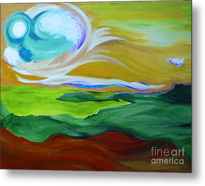 Angel Sky Green By Jrr Metal Print by First Star Art
