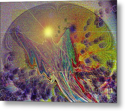 Metal Print featuring the digital art Angel Taking Flight by Alison Caltrider