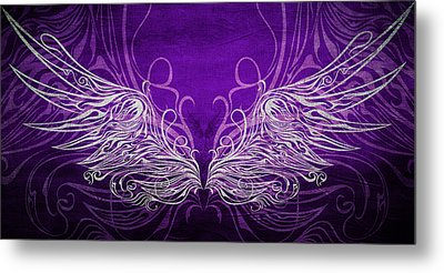 Angel Wings Royal Metal Print