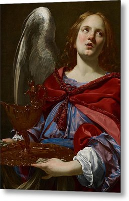 Angel With Attributes Of The Passion Metal Print by Simon Vouet