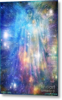 Metal Print featuring the painting Angelic Being by Leanne Seymour