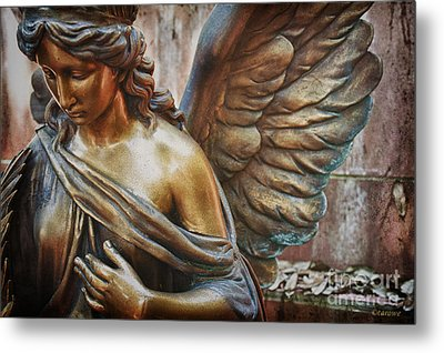 Angelic Contemplation Metal Print