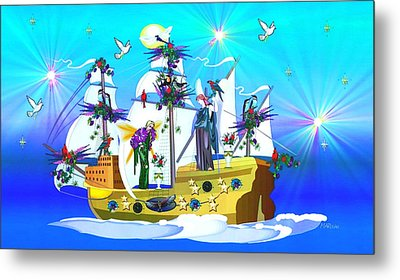 Metal Print featuring the digital art Angelic Voyage by Mary Anne Ritchie