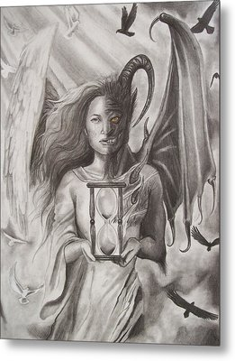 Angels And Demons Metal Print by Amber Stanford