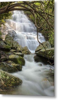 Angels At Benton Waterfall Metal Print by Debra and Dave Vanderlaan
