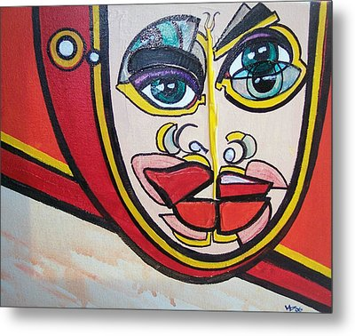Angel's Giggle Metal Print by Valerie Wolf