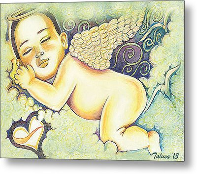 Angels In The Sky Metal Print by Teleita Alusa