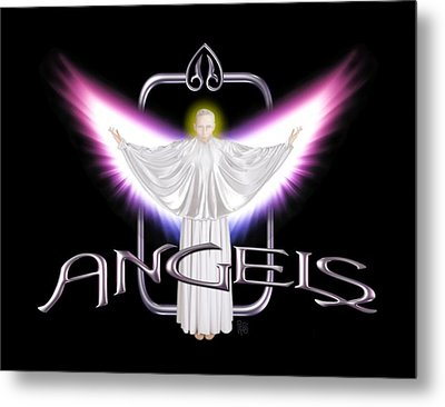 Metal Print featuring the digital art Angels by Scott Ross