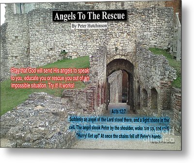 Angels To The Rescue Metal Print