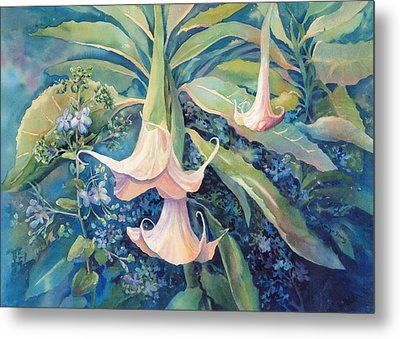 Angels Trumpets II Metal Print by Marilyn Young
