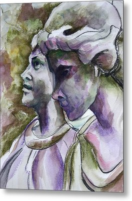 Angels Watching Over Metal Print by Janet Felts
