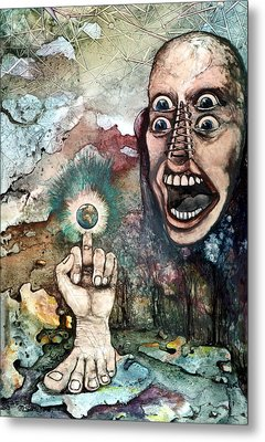 Metal Print featuring the painting Anger Of Archon by Mikhail Savchenko