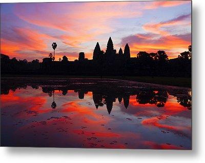 Angkor Wat Sunrise Metal Print by Alexey Stiop