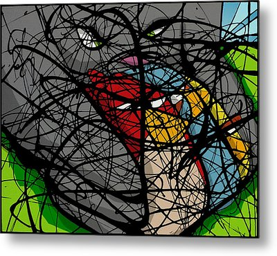 Angry Bird Catcher - Extraction Metal Print by Ismael Cavazos