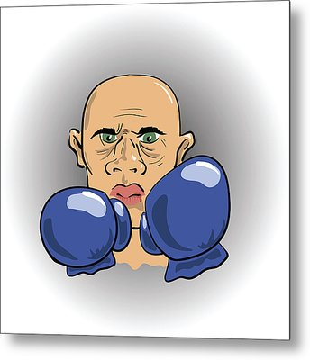 Angry Boxer Metal Print by Valerii Stoika