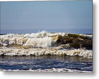 Beach Metal Print featuring the photograph Angry Ocean by Aaron Berg