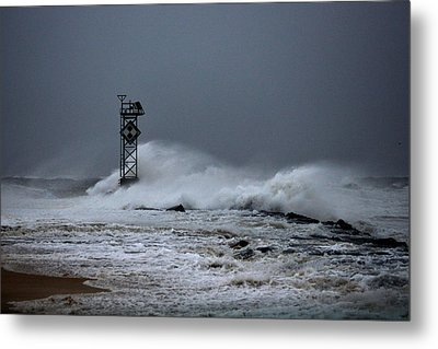 Metal Print featuring the photograph Angry Ocean In Ocean City by Bill Swartwout