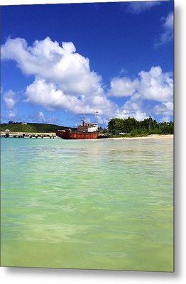 Anguilla Mr. Teds Boat Metal Print by Jennifer Lamanca Kaufman