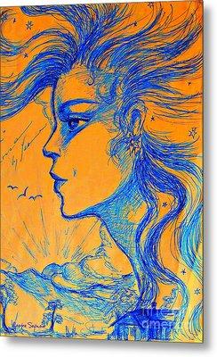 Anima Sunset Metal Print by Leanne Seymour
