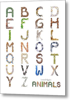 Animal Alphabet Metal Print by Leonard Filgate