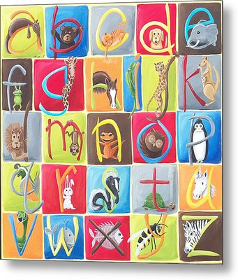 Animal Alphabet Metal Print by Tracie Davis