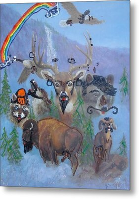 Metal Print featuring the painting Animal Equality by Lisa Piper