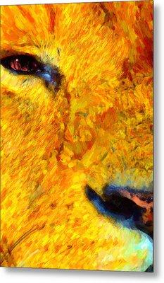 Animal Eye Lion Metal Print
