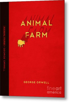 Animal Farm Book Cover Poster Art 2 Metal Print