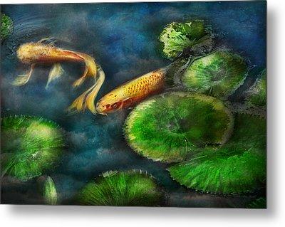 Animal - Fish - The Shy Fish  Metal Print by Mike Savad