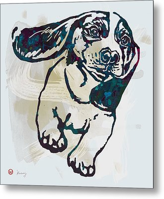 Animal Pop Art Etching Poster - Dog - 10 Metal Print by Kim Wang