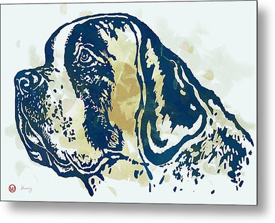 Animal Pop Art Etching Poster - Dog - 3 Metal Print by Kim Wang