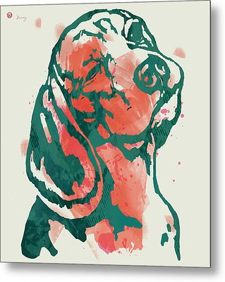 Animal Pop Art Etching Poster - Dog - 7 Metal Print by Kim Wang