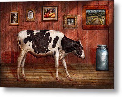 Animal - The Cow Metal Print by Mike Savad
