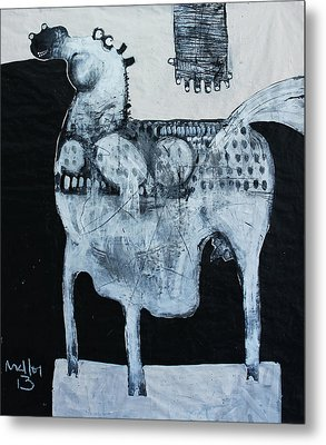 Animalia  Equos No 4 Metal Print by Mark M  Mellon