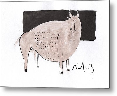 Animalia Taurus No. 7  Metal Print