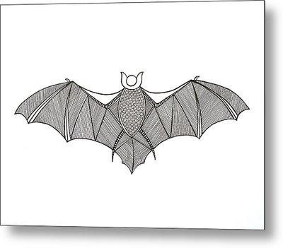 Animals Bat Metal Print by Neeti Goswami