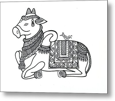 Animals Cow 2 Metal Print
